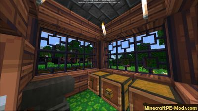 Spawn House Command Block MCPE Map 1.0.6
