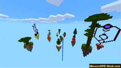 13 Sky Islands For Survival MCPE Map