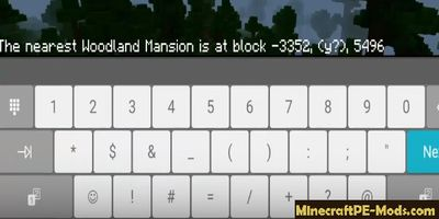 How to Find Woodland Mansion in Minecraft PE