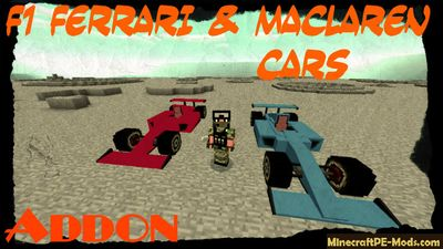 F1 Ferrari & Maclaren Cars Addon For Minecraft PE