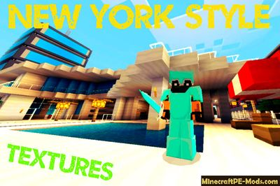 New York 64x Minecraft PE Textures 1.2.0, 1.1.5, 1.1.4, 1.1.0