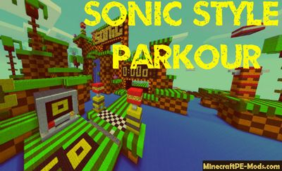 Sonic Style Parkour Minecraft PE Map