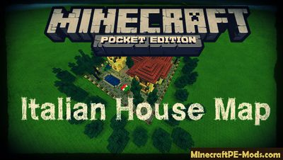 Italian House Minecraft PE Map