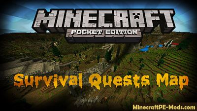 Survival Quests Minecraft PE Map