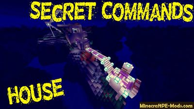 House with a Secret Commands Minecraft PE Map
