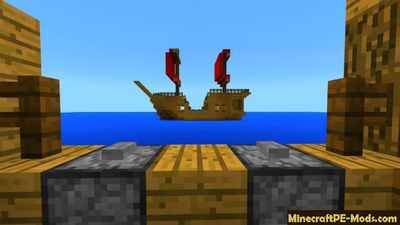 Pirate Ship Wars Minecraft PE Map & Addon