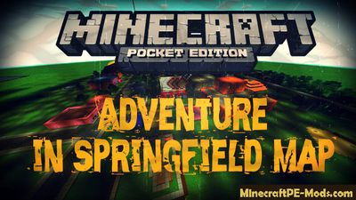 Adventure in Springfield Minecraft PE Map
