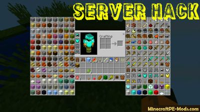 Server Creative Inventory Hack For MCPE 1.2.0, 1.1.5, 1.1.4, 1.1.0
