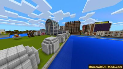 City Spawn From Server Minecraft PE Map