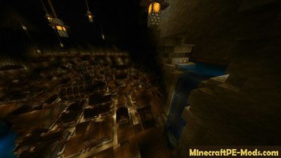 City in Cave Minecraft PE Map