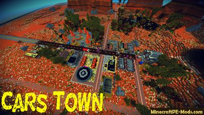 Cars 1 Movie Town Minecraft PE Map