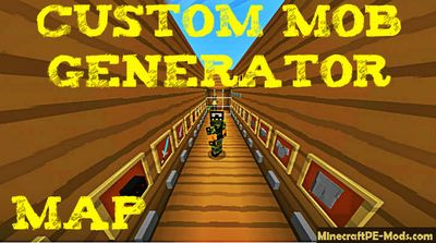 Custom Mob Generator Minecraft PE Map