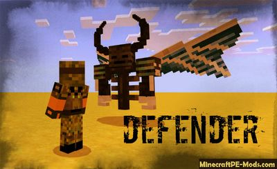 Defender of the Herobrine MCPE Mod 1.2.0, 1.1.5, 1.1.4, 1.1.0