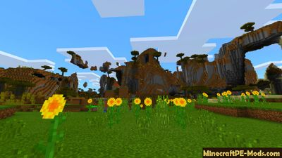 Flying Mountains & Village Minecraft PE Seed