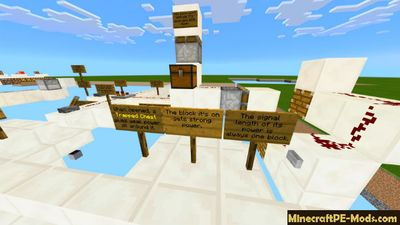 List Of Redstone Guides Minecraft PE Map