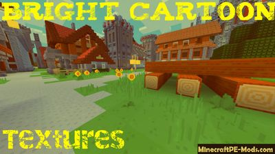 Bright Cartoon Minecraft PE Texture Pack 1.2.0, 1.1.5, 1.1.4, 1.1.0