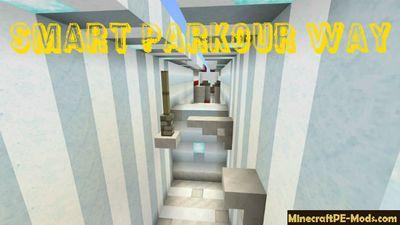 Smart Parkour Way Minecraft PE Map - MCPE: Maps - Minecraft