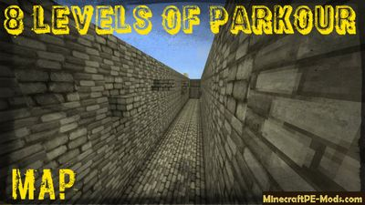 8 Levels Of Parkour Minecraft PE Map