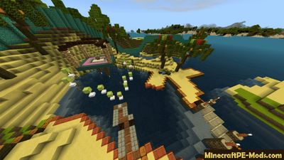World of Imagination Minecraft PE Map