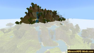 Large Realistic Biomes Minecraft PE Map