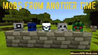 Mobs From Another Time Minecraft PE Mod 1.2.0, 1.1.5, 1.1.0