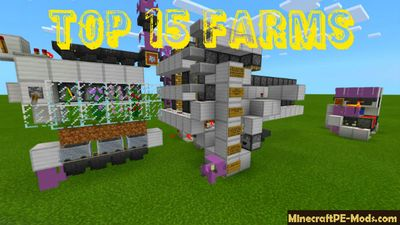 Top 15 Automatic Farms Minecraft PE Map