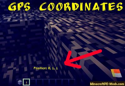 GPS Coordinates of Geocaches Minecraft PE Mod 1.2.0, 1.1.5