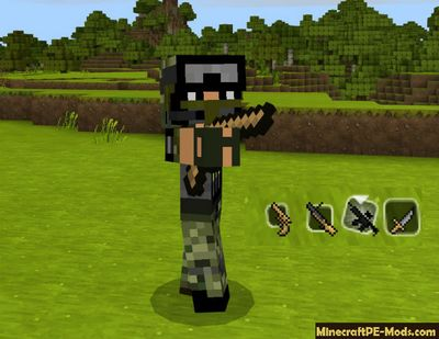 Modern Army Weapons Minecraft PE Mod 1.2.2, 1.2.1, 1.2.0