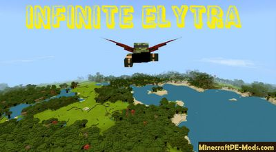 Infinite Elytra Flight Minecraft PE Mod / Addon 1.2.0, 1.1.5, 1.1.4