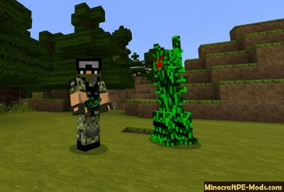 Ancient Creeper Minecraft PE Mod 1.2.0, 1.1.5, 1.1.4, 1.1.0