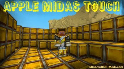 Apple Midas Touch Minecraft PE Mod 1.2.0, 1.1.5, 1.1.4, 1.1.0