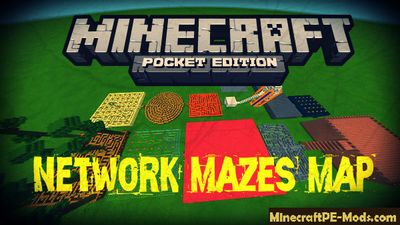 Network Mazes Minecraft PE Map