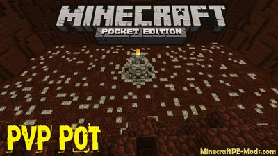 Gigantic PvP Pot In Nether Minecraft PE Map