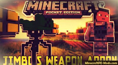 Modern Weapons Minecraft PE Mod Pack 1.2.0, 1.1.5, 1.1.0