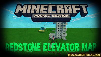 Redstone Elevator Minecraft PE Map