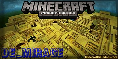 De_Mirage CS:GO Minecraft PE Map