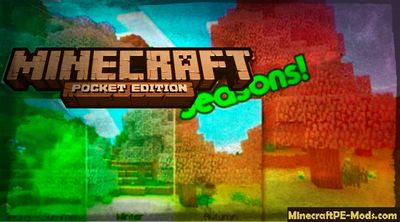 Fall, Winter, Spring & Summer in MCPE Mod 1.2.1, 1.2.0., 1.1.5