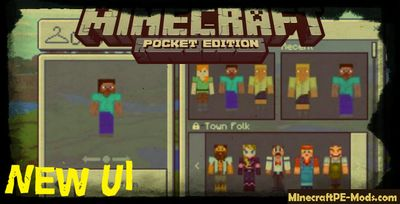 Upgrade UI Minecraft PE Bedrock Edition Mod 1.2.2, 1.2.1, 1.2.0