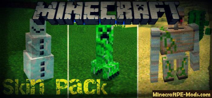 Mobs D Models Skin Pack Minecraft PE Bedrock - Skins para minecraft pe ultima version