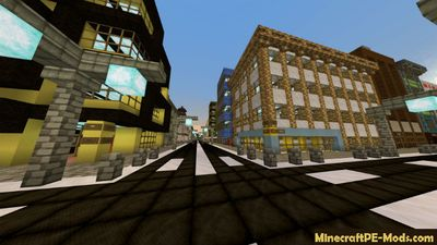 Ghost Town Minecraft PE Bedrock Edition Map