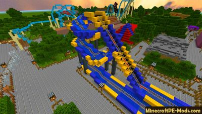 Biggest Amusement Park Minecraft PE Map