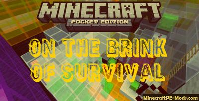 On the Brink of Survival Minecraft PE Bedrock Map