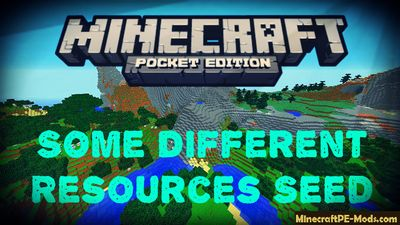 Some Different Resources Minecraft PE Bedrock Seed
