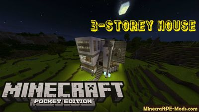 Cozy 3-Storey House Minecraft PE Bedrock Map