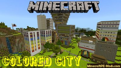 Colored City Minecraft PE Bedrock Map