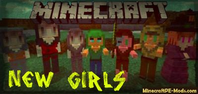 New Girls in Minecraft PE Mod 1.2.5, 1.2.3, 1.2.2, 1.2.0