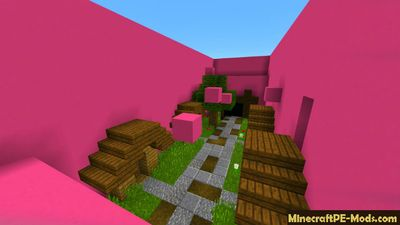 Beautiful 16 Levels of Parkour Minecraft PE Map
