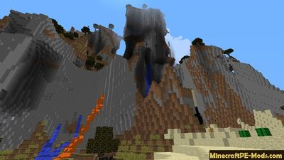 Great Mountain Minecraft PE Bedrock Seed