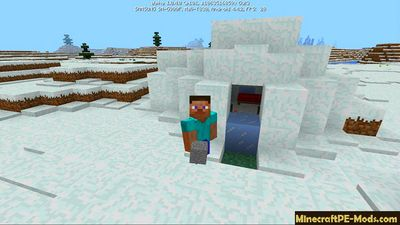 Snow-covered Village Minecraft Bedrock Seed