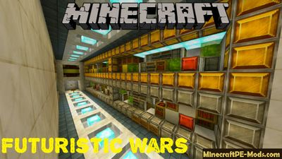 Futuristic Wars Minecraft PE Map